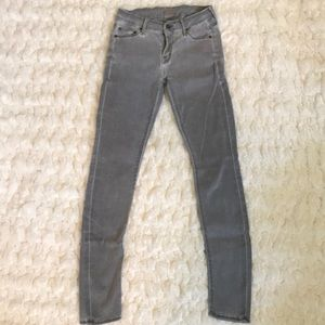 MOTHER Denim The Looker Skinny Jeans Gray